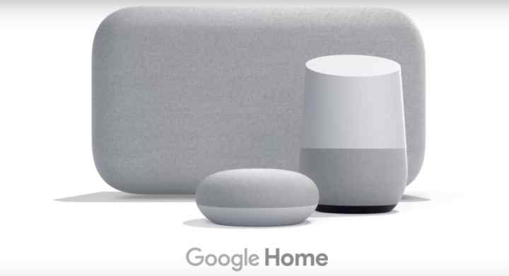 Google Home speakers