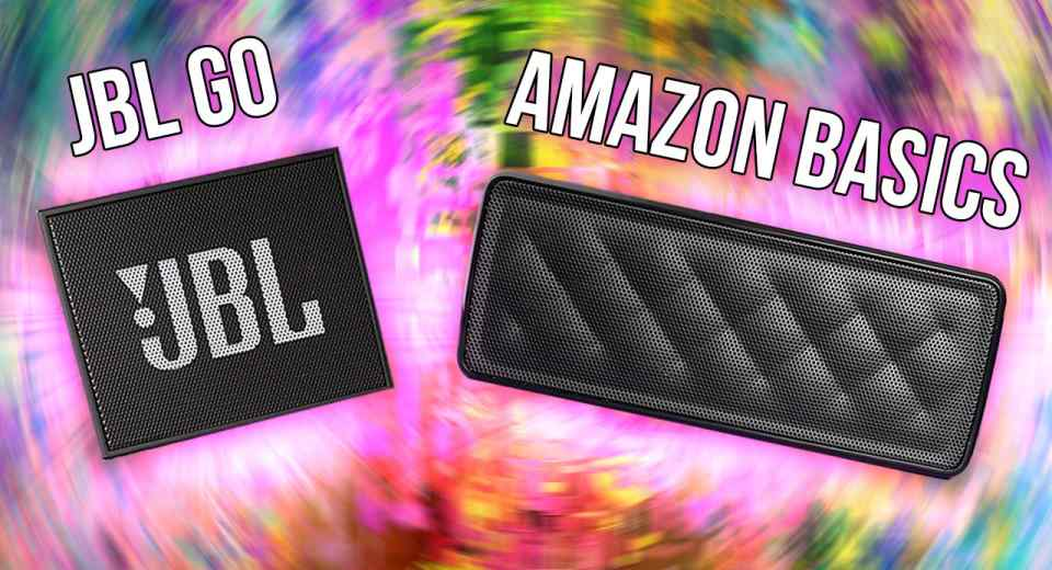 AmazonBasics Portable Speaker vs JBL Go