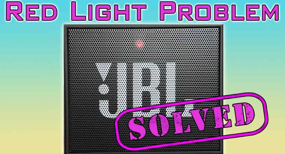 JBL Go Red Light Problem